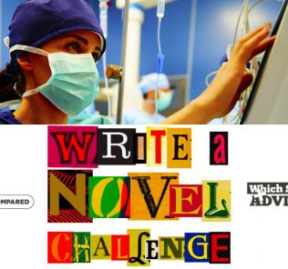 Chapter 49 Write a Novel Challenge showing a nurse registering a flat-lining EKG