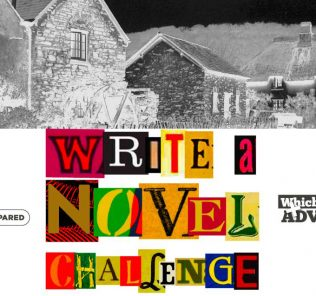 Illustration for a novel written by children in our Write a Novel Challenge Chapter 55 showing an old thatched cottage drawn from a childhood memory.