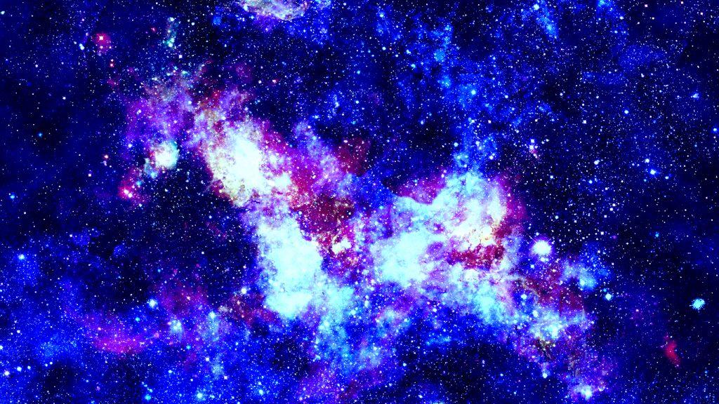 Covid 19 Schreiben Sie eine neue Herausforderung, die mit blauen Sternen explodiert