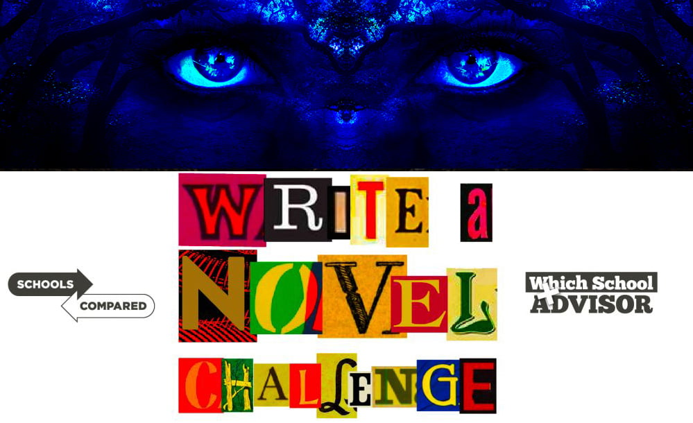 The Prophesy Tower Write a Novel Challenge image of eyes in blackness