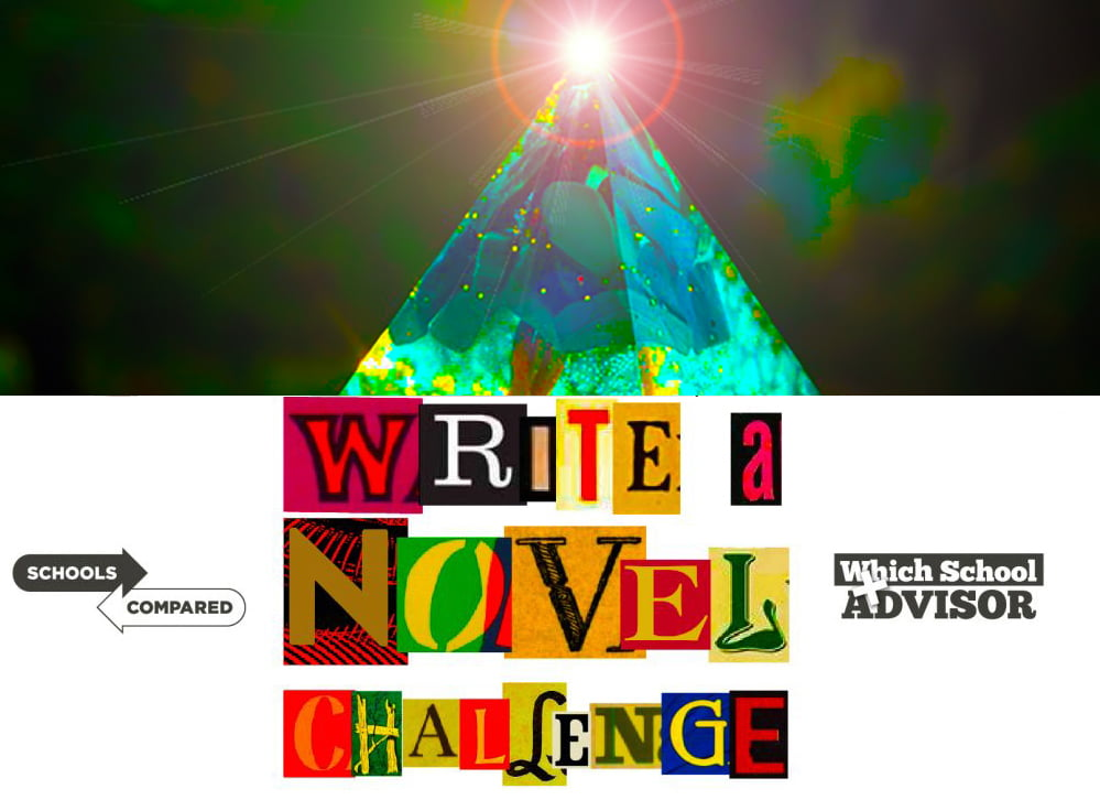 Write a Novel Challenge Lead Title Image showing the magic of turquoise