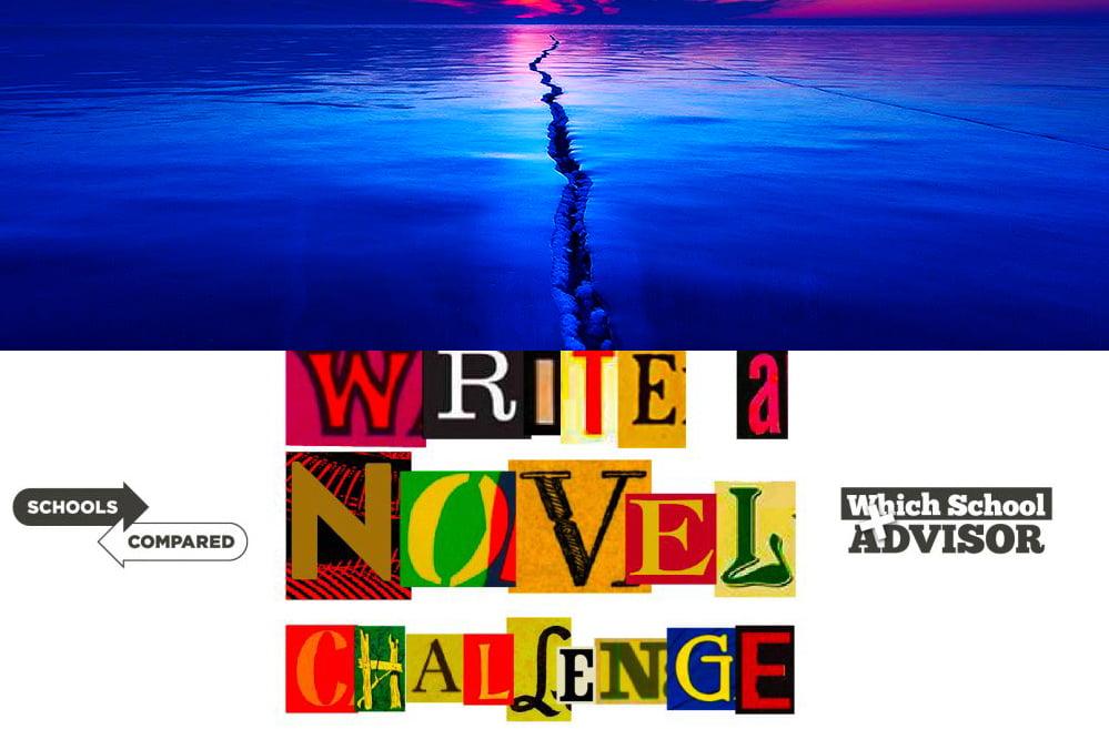 Schreiben Sie eine Novel Challenge-Illustration des Randes der Welt