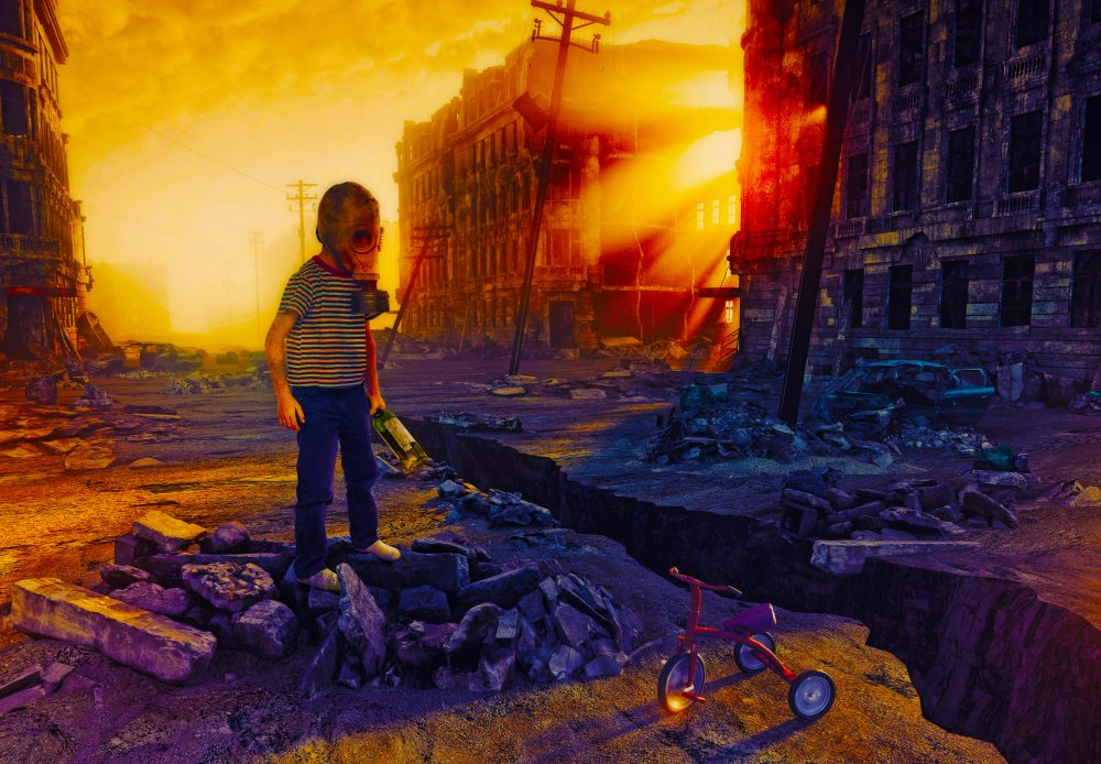 Write a Novel Challenge Chapter 75. A young boy stands alone as the world ends. It's all over. Or is it?