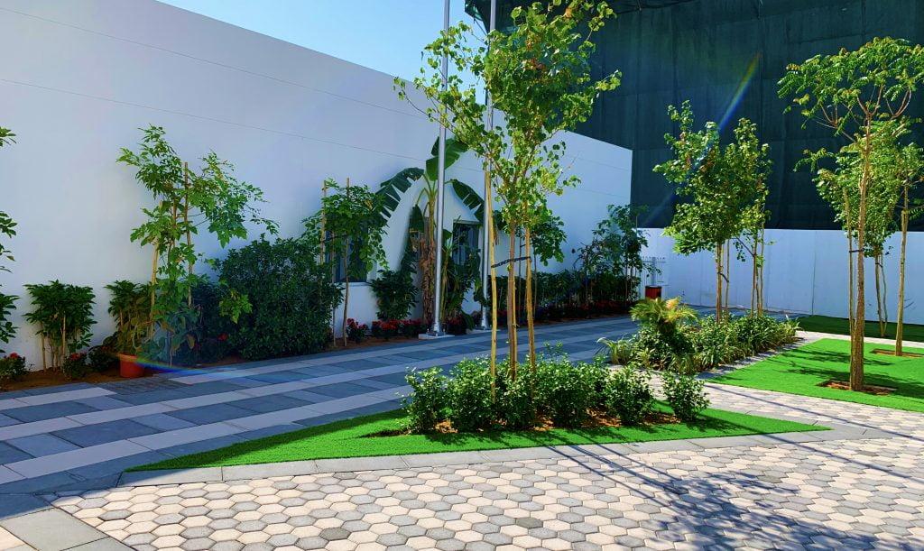 المناظر الطبيعية الخارجية في مدرسة الصفا البريطانية في دبي