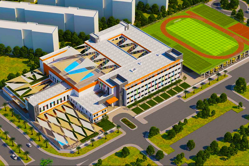 Artists impression of Ambassador International Academy school in Dubai
