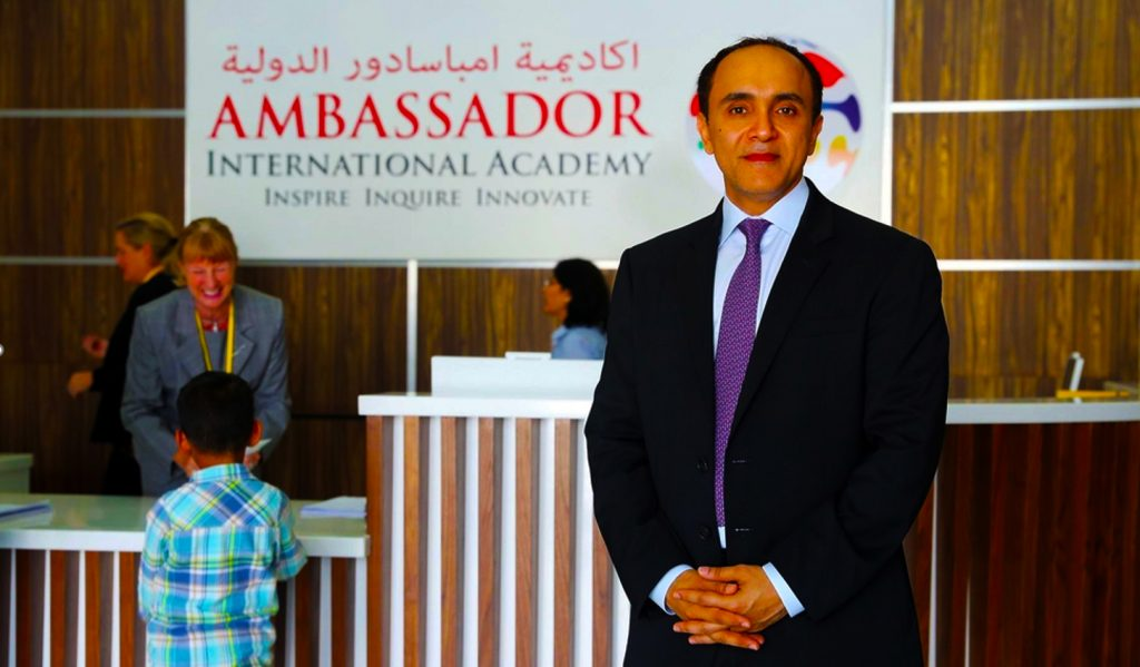 Photograph of Kamal Kalwani, Co-founder and Vice-Chairperson of Ambassador International Academy - the first IB continuum school in the UAE established to offer an affordable IB Diploma education to families in Dubai