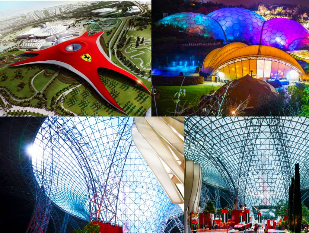 The technology being used in the roof of the Royal Grammar School Guidford in Dubai is shared with the UK's Eden Project and Ferrari World in Abu Dhabi. This will be only the second time the high tech solution has been used in the UAE.