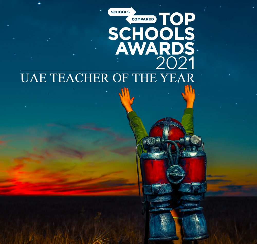 Award for Teacher of the Year at the Top School Awards 2021 launched at the What School Show in Dubai