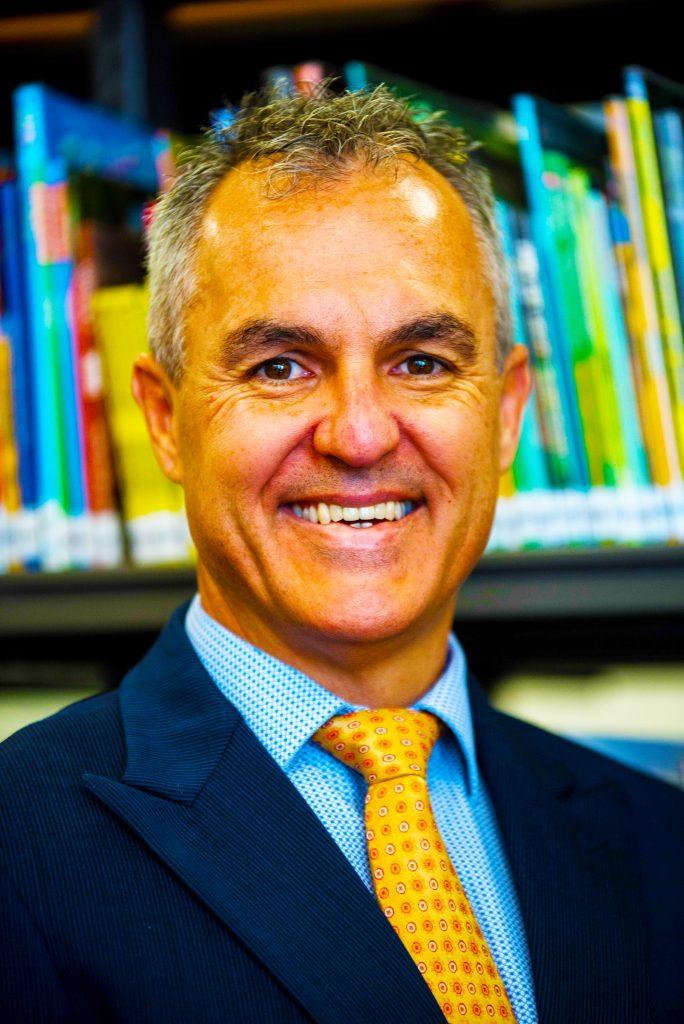 Photograph of Craig Lamshed, Founding Principal RGS Guildford Dubai. Royal Grammar School Guildford in Dubai.
