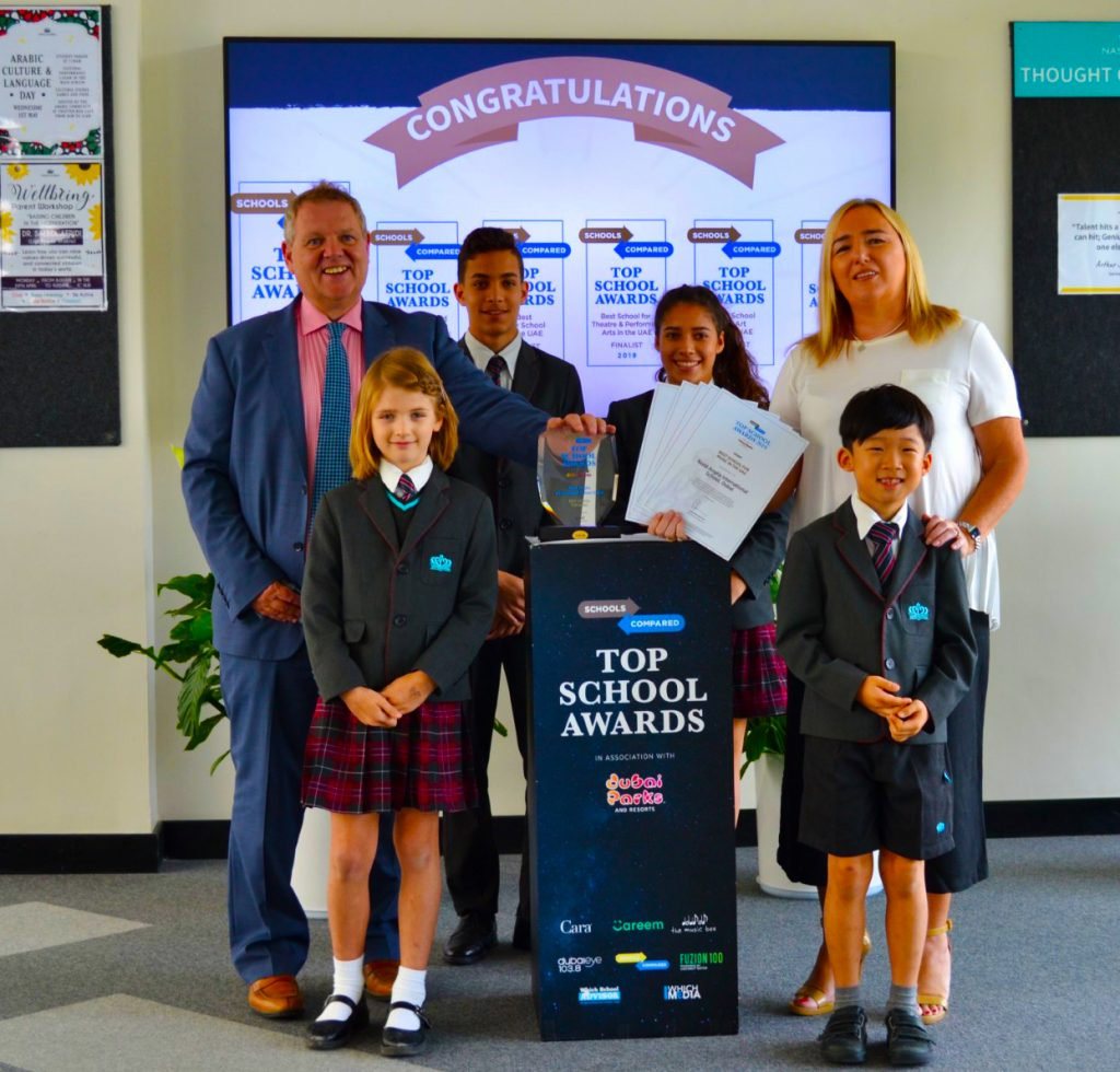 Nord Anglia International School Dubai Top School Awards' winner for two years in succession for the quality of education provided to children