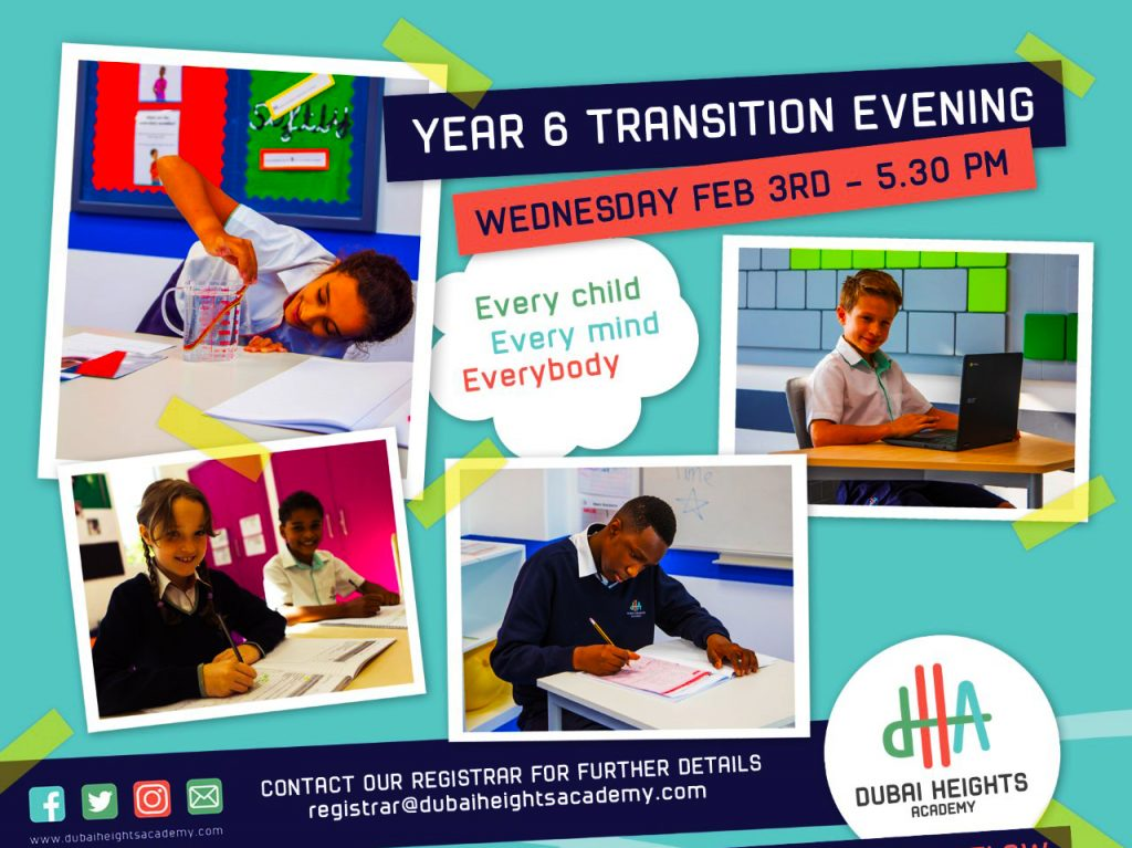 Dubai Heights Academy Year 6 Transition Event 2021