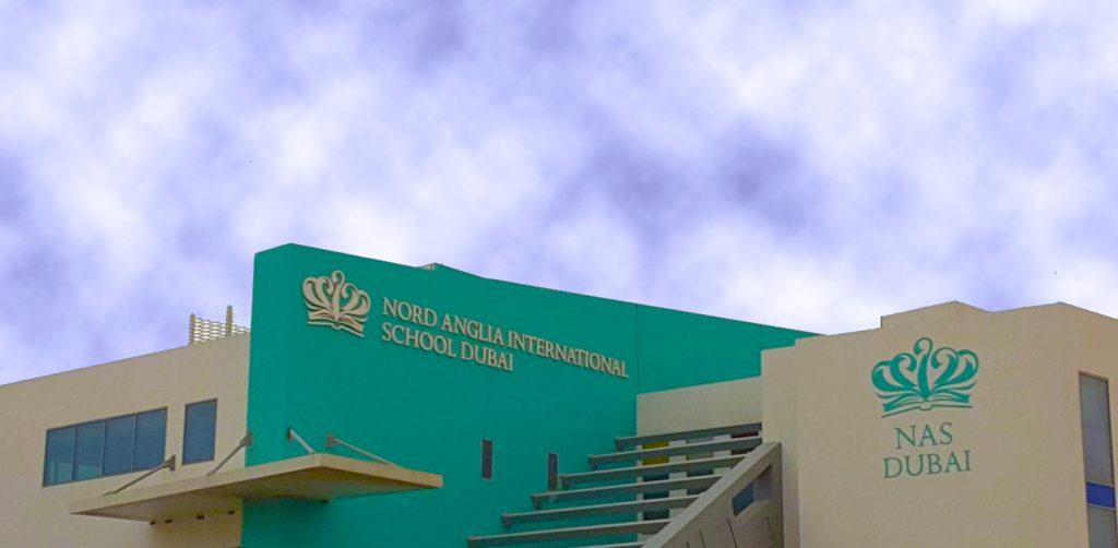 Foto der Gebäude der Nord Anglia International School in Dubai 2021