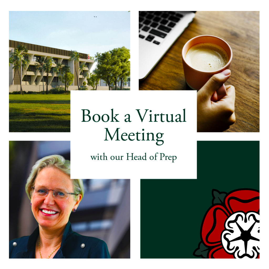 Virtual meetings in 2021 with the Head of Prep at Royal Grammar School Guildford in Dubai RGS Dubai