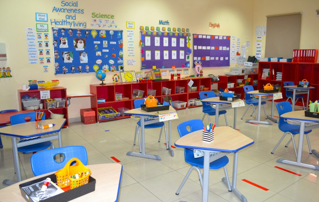 Primary School classroom at North American International School Dubai