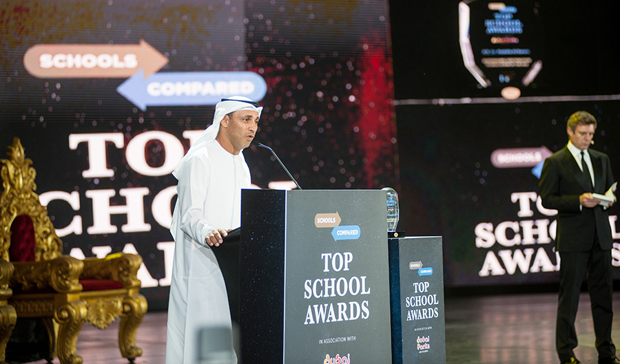 H.E. Dr. Abdulla Al Karam Recipeint of the Top Schools Award for Outstanding Contribution to Education