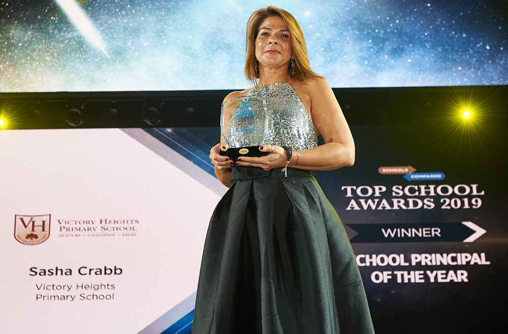 Sasha Crabb, Recioent of the Top Schools Award Dubai, Abu Dhabi, UAE
