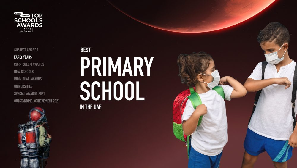 SchoolsCompared.com Top Schools Awards 2021 Beste Grundschule im Anmeldeformular der VAE