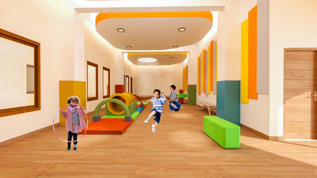مصادر التعلم في مدرسة مؤسسة فيكتوري هايتس التي افتتحت في دبي في أغسطس 2021 لأطفال FS1 و FS2 الذين سينتقلون من مدرسة فيكتوري هايتس الابتدائية التأسيسية