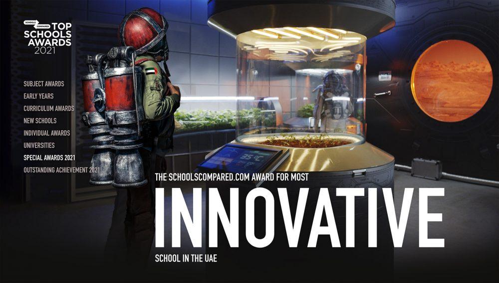 Der SchoolsCompared.com Top Schools Award Award für die innovativste Schule in den VAE 2021