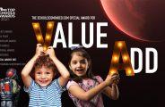 Der SchoolsCompared.com Top Schools Award für Wertschöpfung und das Hinterlassen eines Kindes hinter dem Anmeldeformular 2021