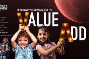 جائزة SchoolsCompared.com لأفضل المدارس من حيث القيمة المضافة وعدم ترك أي طفل خلف نموذج الالتحاق لعام 2021