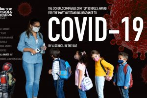 جائزة أفضل المدارس لعام 2021 هي أفضل استجابة لـ Covid-19 في نموذج دخول مدرسة في الإمارات العربية المتحدة
