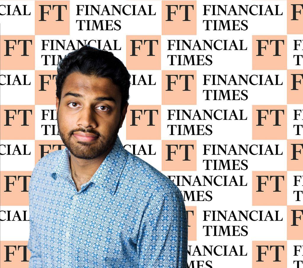 Photograph of the Financial Times Krishan Puvvada