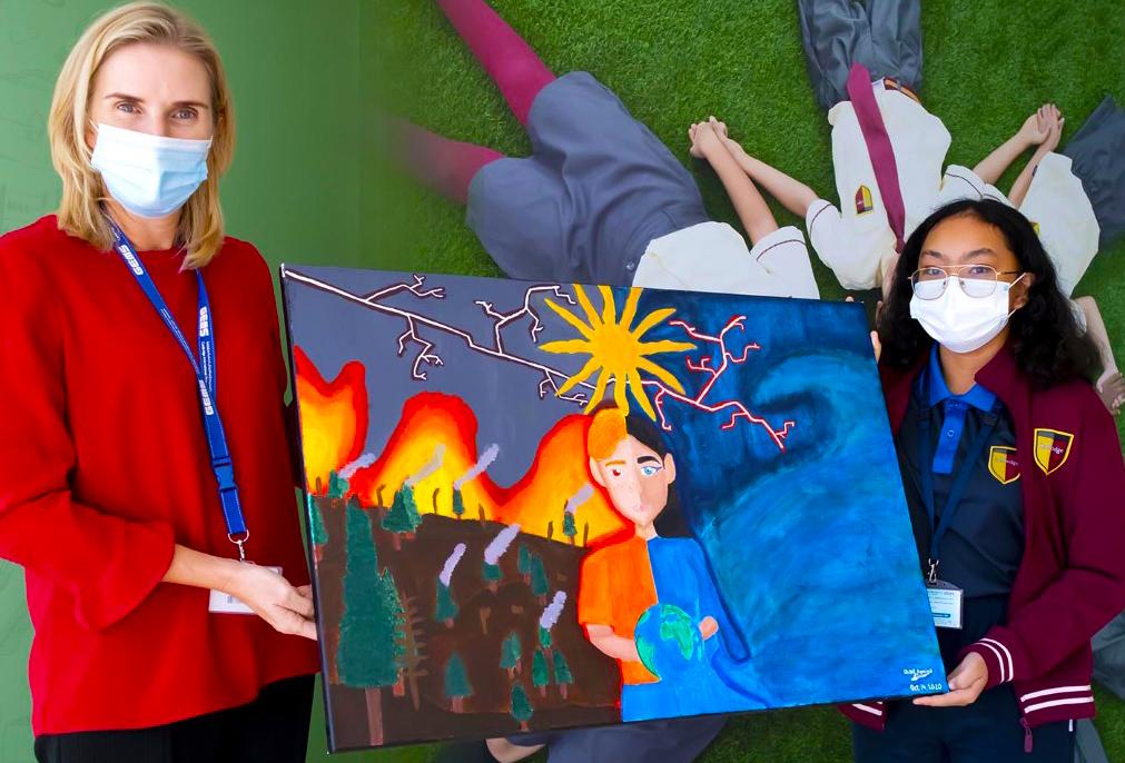 GEMS Cambridge International School Dubai working on the theme for her Junk Kouture project