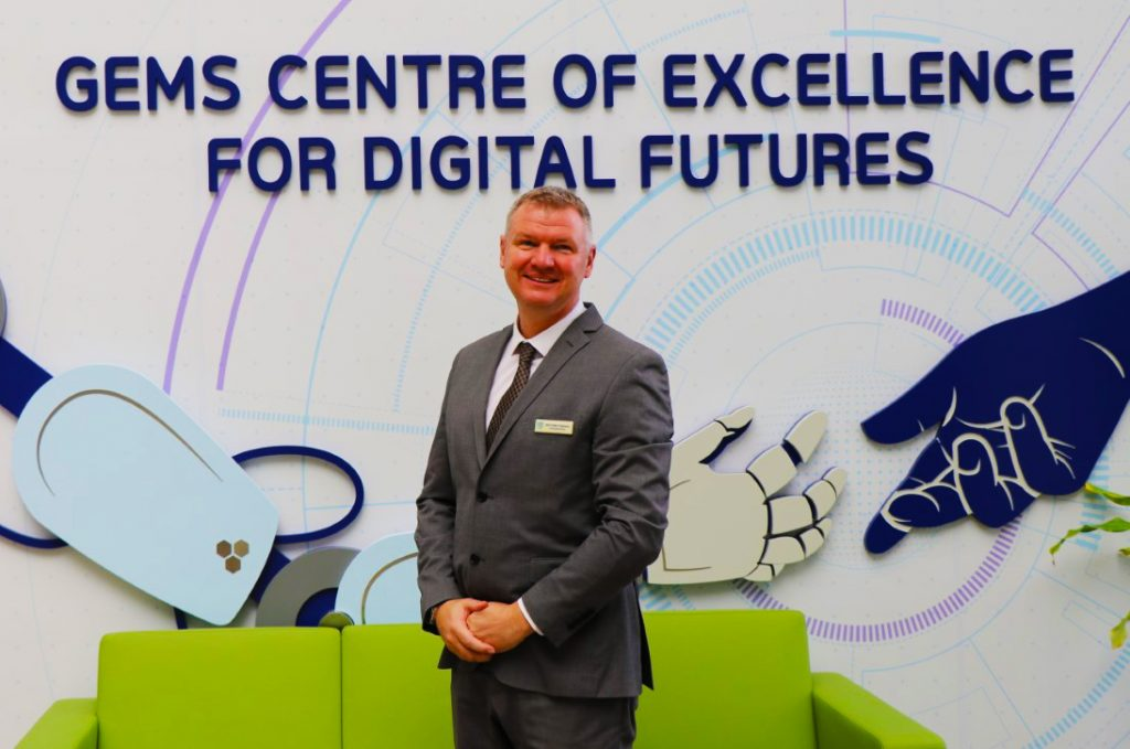 Photograph of Matt Tompkins CEO and Principal GEMS FirstPoint School Dubai - here he discusses the vital importance of internships and links with industry in schools