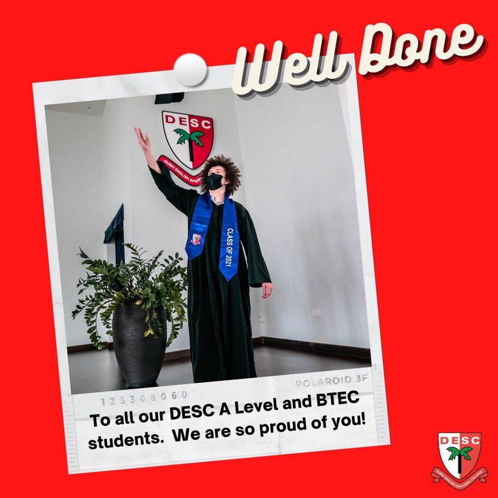 نتائج كلية دبي للناطقين بالإنجليزية من المستوى A و BTEC 2021